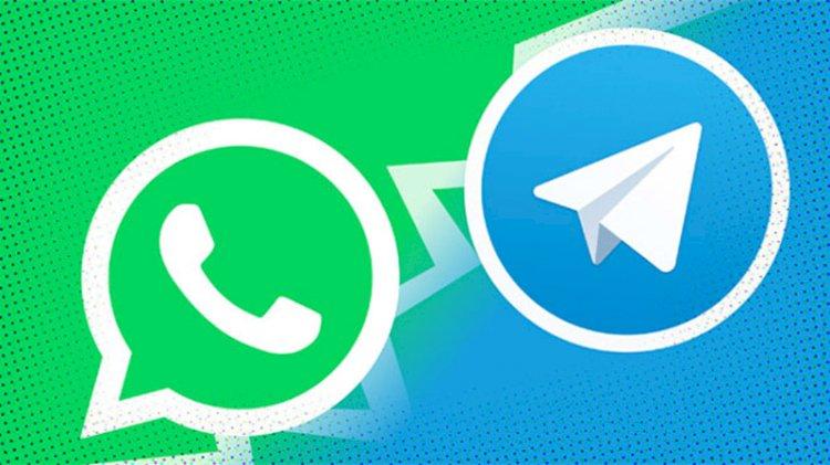Telegram ve Whatsapp sosyal medyada atıştı