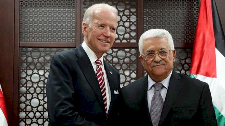 Filistin Devlet Başkanı Mahmud Abbas ABD Başkanı Joe Biden'la görüştü