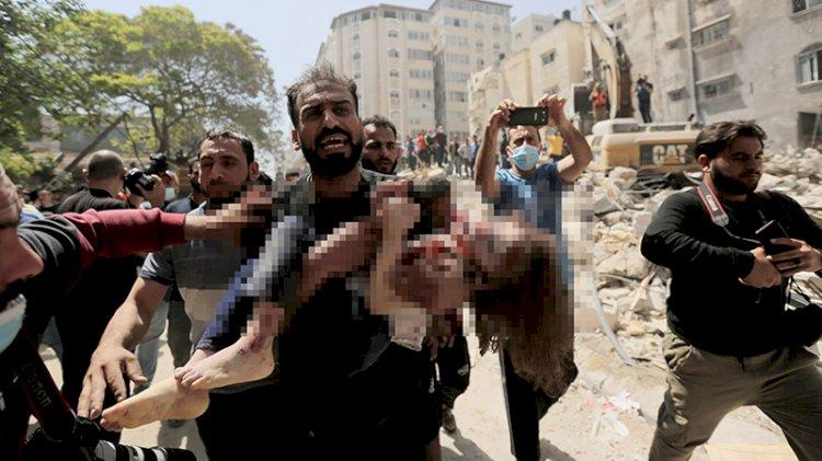 İşte İsrail'in vurduğu Gazze'den görüntüler