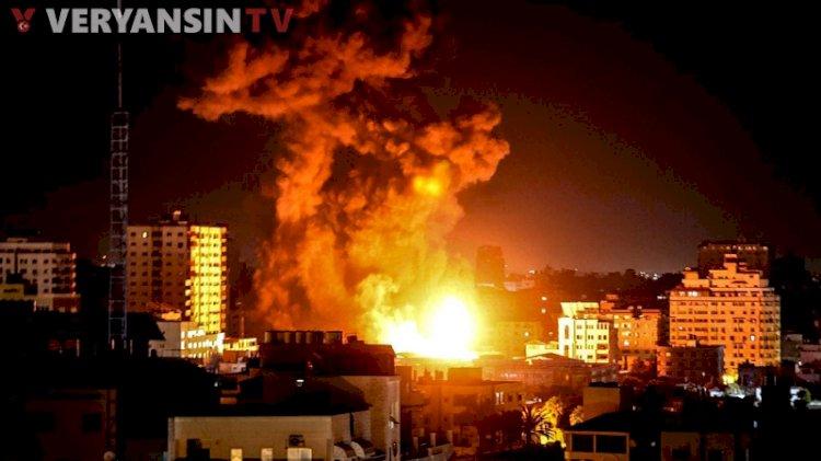 İsrail ordusu Gazze'ye havadan saldırıyor