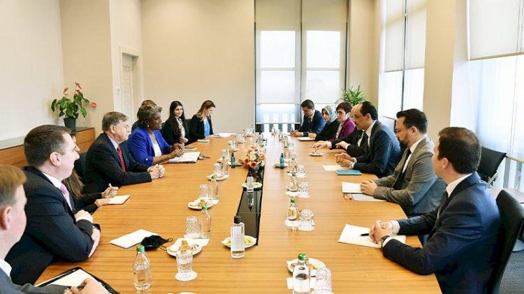 ABD'nin BM Daimi Temsilcisi İbrahim Kalın ile görüştü