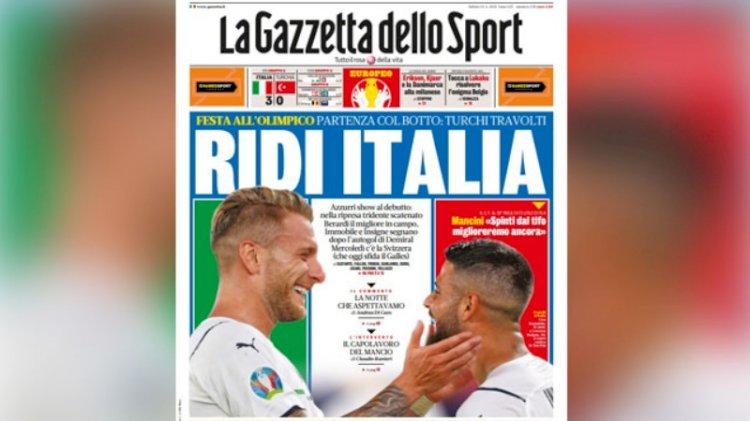 Türkiye-İtalya maçı dış basında çok konuşuldu