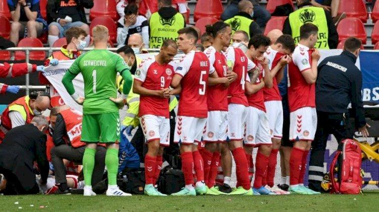 Danimarka-Finlandiya maçında Christian Eriksen'in kalbi durdu
