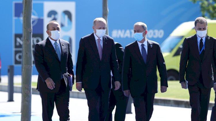 Erdoğan, NATO zirvesi öncesi liderlerle görüştü