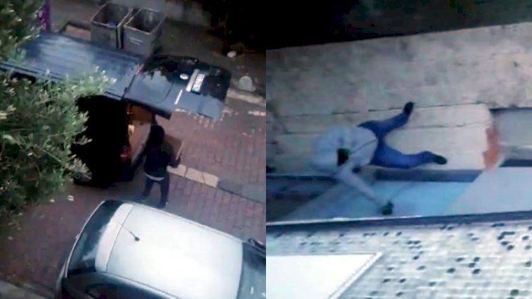 Avcılar'da pişkin hırsızlar kamerada… Komşular inip müdahale etmesin diye kapıyı tuttular