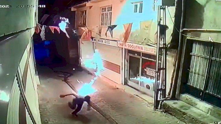 AKP ilçe binasına molotof kokteylli saldırı