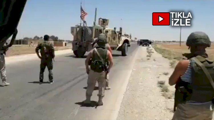 Suriye'de yüksek gerilim... Rus askerleri ABD konvoyunu böyle engelledi