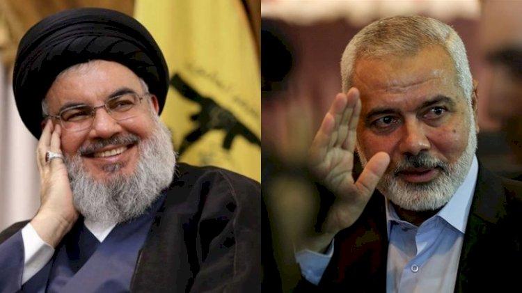 Hamas lideri Haniyye ve Hizbullah lideri Nasrallah bir araya geldi