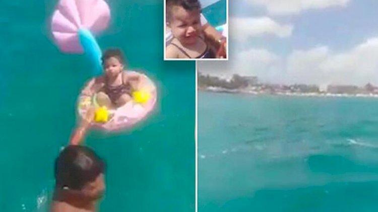 Denizin ortasında bebek bulundu