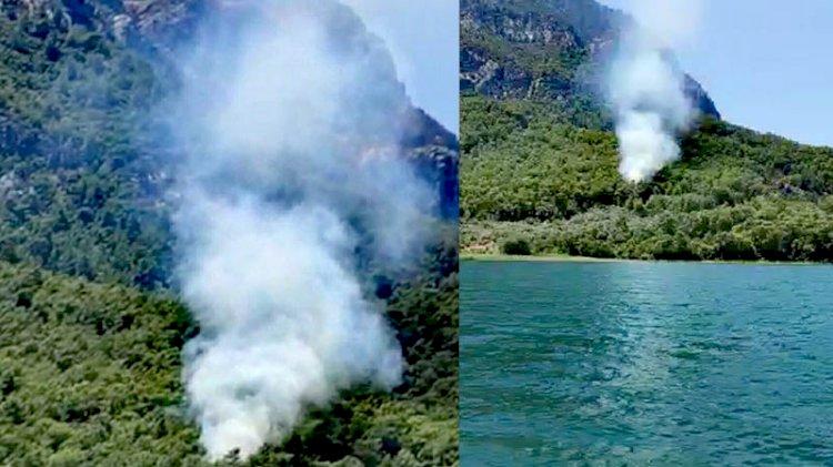 Köyceğiz'de 1 hektar orman yandı