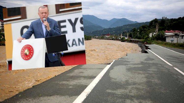 Erdoğan selin vurduğu Rize'de konuştu: Küresel ısınmayla ilahi denge bozuluyor