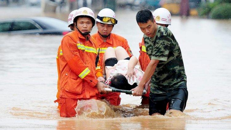Çin'de sel faciası: 56 ölü