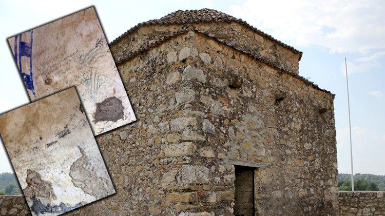 Büyük saygısızlık: Tarihi caminin duvarlarına argo sözcükler yazdılar