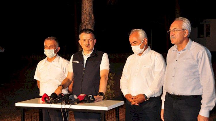 Manavgat'taki yangın kontrol altına alınamadı