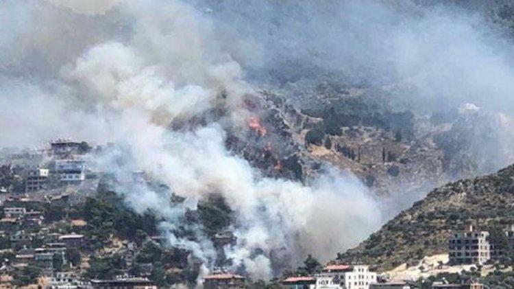 Hatay'da orman yangını: Bazı evler tahliye ediliyor