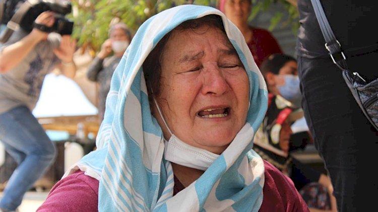 Feryadı yürekleri sızlattı:  'Kuzularım yangında kaldı' diyerek gözyaşı döktü