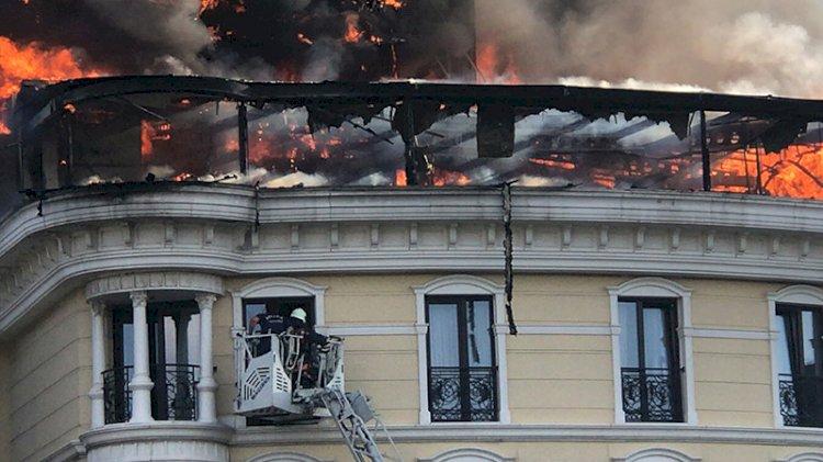 Ankara'da Anıtkabir yakınlarında yangın