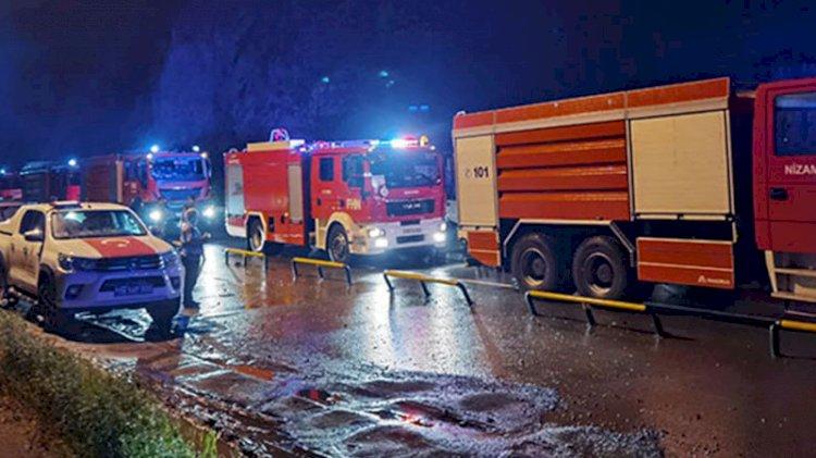 Azerbaycan yangın söndürme ekipleri Türkiye'de