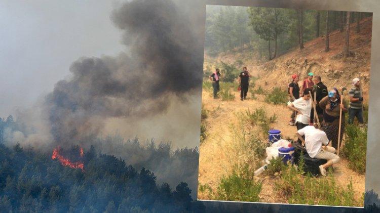 Burası yanarsa Batı Toroslar yanar! Kadınlar en önde: Tırmıkla tampon bölge