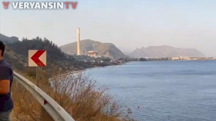 'Termik santral alevlerle yüz yüze'