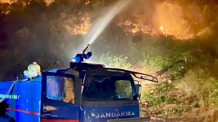 Jandarma, 4 ildeki orman yangınlarına müdahale ediyor