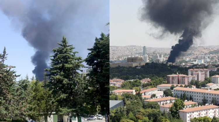 Ankara'da yangın... Dumanlar Anıtkabir'e ulaştı