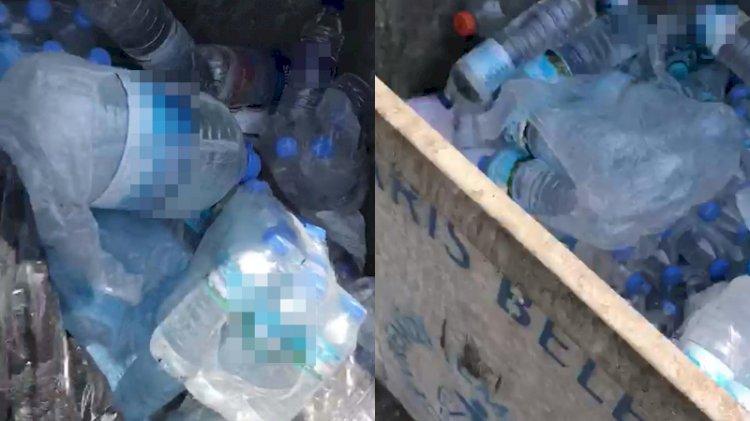 Yangınla mücadele eden görevlilerin içme suyunu çöpe attılar