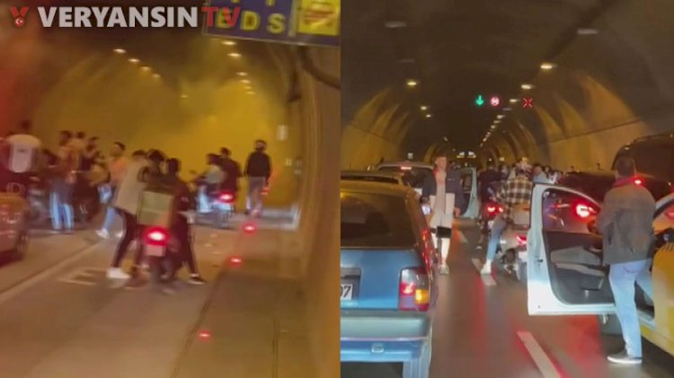 İstanbul'un göbeğinde tünel kapattılar