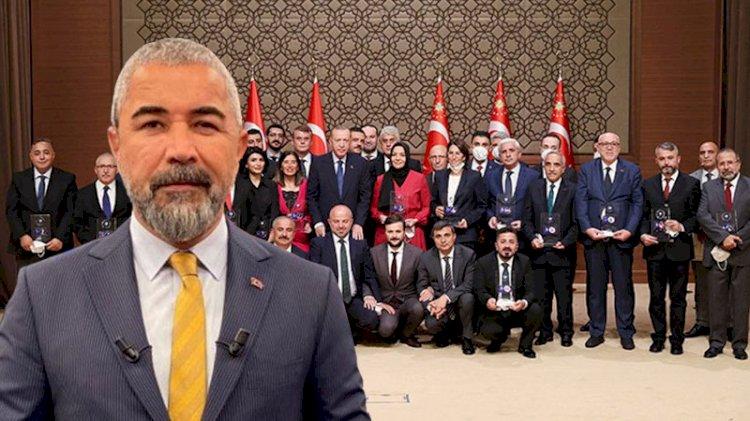 Erdoğan'ın ödül dağıttığı törende Veyis Ateş ayrıntısı