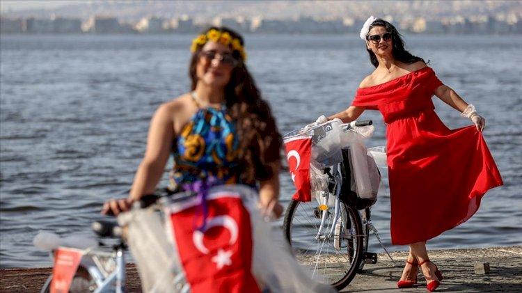 Yurdun birçok bölgesinde 'Süslü Kadınlar Bisiklet Turu' düzenlendi