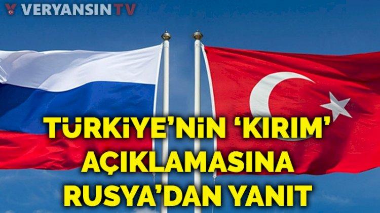 Türkiye'nin Kırım'daki seçim sonuçlarını tanımamasına Rusya'dan yanıt