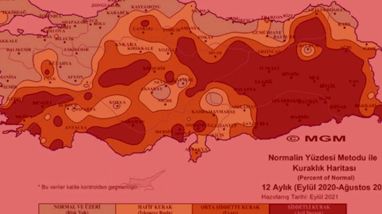 Meteoroloji'den rapor: 'Şiddetli kurak' yaşandı