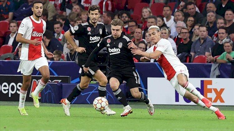 Şampiyonlar Ligi'nde Beşiktaş, Ajax deplasmanında 2-0 mağlup oldu