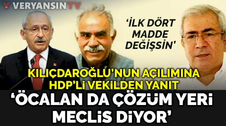 HDP'den CHP'ye skandal öneri... Anayasanın ilk dört maddesi değiştirilmezse...