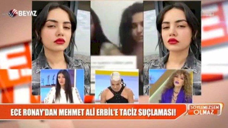 Beyaz TV ekranlarında rezillik...  Mehmet Ali Erbil, Deniz Akkaya'ya 'sana belden aşağı vururum' dedi, Ece Ronay, Erbil'in ses kaydını yayınladı