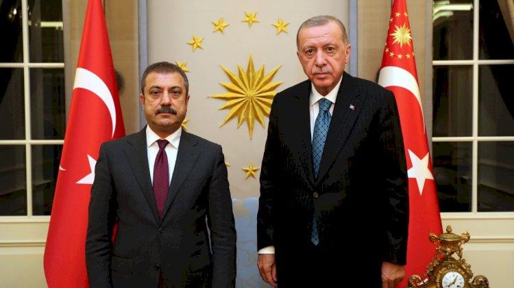 Erdoğan, TCMB Başkanı Kavcıoğlu ile görüştü