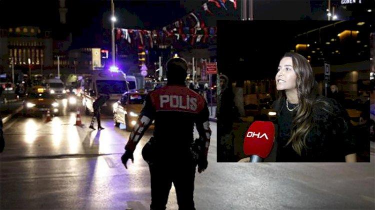 Taksim'de taksiciye küfür eden kadın gözaltına alındı